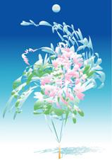 宙(そら)に活ける花(さいわいA)