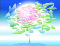 宙(そら)に活ける花〈さいわい)