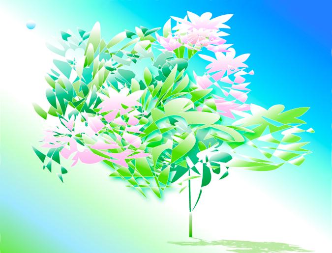 文字-ing Art―宙(そら)に活ける花シリーズ