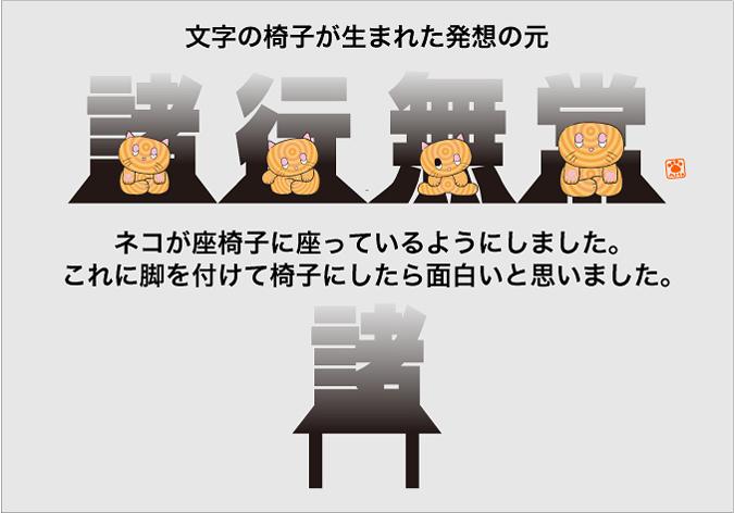 文字の椅子が生まれた発想の元