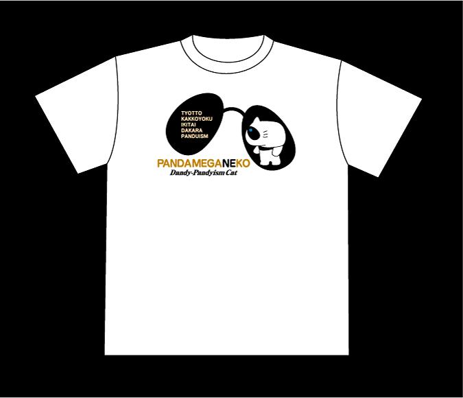 キャラクターTシャツ《パンダメガネコ》